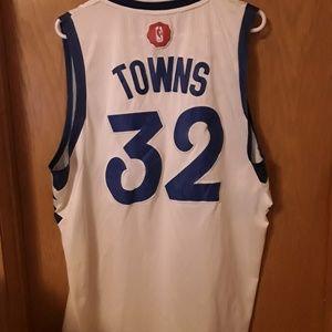 MN Timberwolves  #32 Towns Adidis  Jersey size XXL